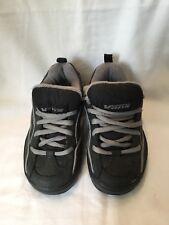 Vans Prone Navy Blue & Grey Leather Childrens Kids Skate Shoes UK Size 10.5