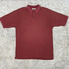 Tommy Bahama Polo Mens Large Shirt Silk Blend Ribbed Short Sleeve Collared Red
