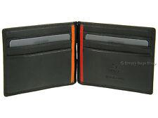 Visconti Mens Money Clip Leather Wallet For Credit Cards, Banknotes - Black BD18