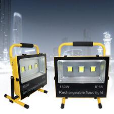 150W LED Luz de trabajo Baustrahler Akku Lámpara de mano Floodlight Camping IP65