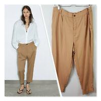 [ ZARA ] Womens Turned Up Hem  Pants NEW + TAGS  | Size XL or AU 16 / US 12