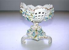 Stunning German Antique 1865-1911 Schieholz/Plaue  Tazza Pedestal Pierced Bowl