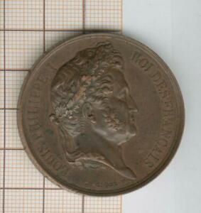 Town D'Amiens Medal Louis Philippe Party Of King 1833