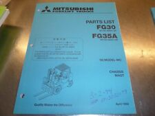 Mitsubishi FG30 FG35A  Lift Trucks Parts Manual 1993