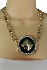 Women Fashion Necklace Gold Metal Chains Hip Hop Charm Egyptian Pyramids Pendant