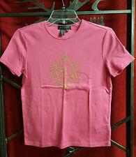 Lauren Petites Embellished Pink Top
