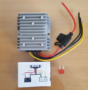 Step Down 48V to 12V DC 10A 120W Converter Waterproof Voltage Reducer Golf Buggy