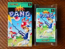 Super Pang / Super Famicom sfc snes buster bros japan complete cib box manual