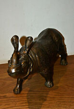 Bronze Rhinoceros statue 7.5 kg Rhino
