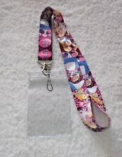 DISNEY ALICE In WONDERLAND LANYARD & Clear Plastic ID CARD BADGE PASS HOLDER