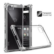 For BlackBerry KEYone Shockproof Case+Explosion-Proof Film Imak Soft TPU Airbag