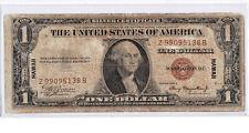 $1 1935 A Hawaii Silver Certificate War Time WWII Emergency RARE Z-B ZB Block