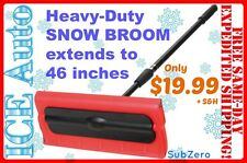 "Snow Broom 18841 Subzero 46"" Heavy-Duty Arctic Plow Grip Hopkins Extend Sno Brum"