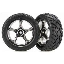 NEW Traxxas 2479R Bandit Front Anaconda Street Tires & Chrome Wheels XL-5 & VXL