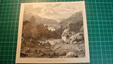 Engadin St. Moritz antique print 1892 holzstich Graubünden Sankt