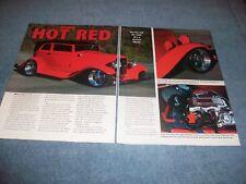 "1932 Ford B400 Sedan Custom Street Rod Article ""Hot Red"""