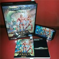Golden Axe EU Cover with Box and Manual Sega Megadrive Genesis MD