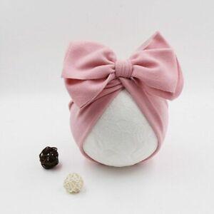 Cute Baby Hat Turban Flower Bows Design Newborn Beanie Cap Winter Infant Bonnets