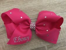 🎀Personalised Hair Bow Clips 6inchExtra Bling FreePostage Any Colour Any Name🎀