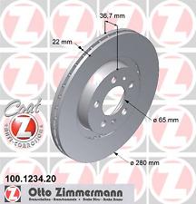 Bremsscheibe (2 Stück) COAT Z - Zimmermann 100.1234.20