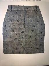 Falda Plisada Tartán Azul para Mujeres Damas Chicas Corta Cintura Alta Micro Mini 084