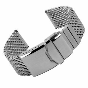 Geckota Gallox Milanese Mesh Watch Strap 150mm Short Brushed / 22mm
