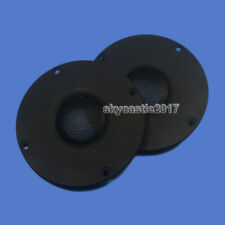 2x 90x64mm Speaker Tweeter Cover Panel Decorative Circle Fixed Plate 33.5mm Hole