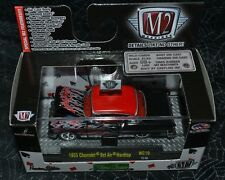 M2 MACHINES WILD CARDS 1955 CHEVROLET BELAIR HARDTOP RED AND BLACK WC10