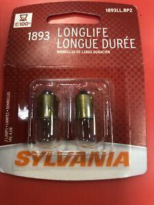 Sylvania Long Life - 2 Pack - 1893LL Light Bulb Auto Trans IndicatClock Dome bx