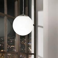 ELINOR1 LAMPADARIO SOSPENSIONE A SFERA PICCOLA IN ACCIAIO E VETRO 1X 7W LED