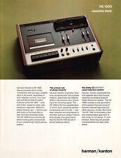 Harman/Kardon Original HK-1000 Cassette Deck Brochure