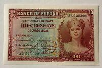 Spain 10 Pesetas 1935 UNC
