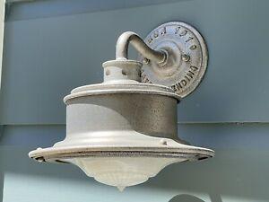 Single Pair of Circa 1910 Galvanized Metal Rustic/Farmhouse Outdoor Light Sconce