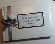 Personalised Wedding Guest Book Any Colour