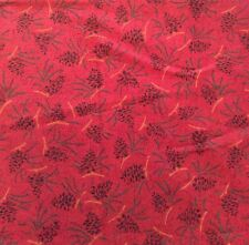 "Pinecone Fabric Harvest Home Nancy Halvorsen 42"" W 36"" L 1 Yard Arts Crafts Pine"