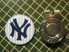 GOLF / New York Yankees Logo Golf Ball Marker/with Magnet Hat Clip New!!