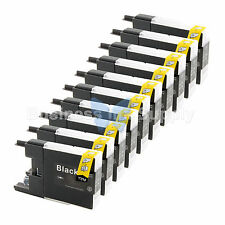 10 BLACK LC71 LC75 Compatible Ink Cartridge for Brother LC75BK HIGH YIELD LC71BK