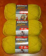 Bernat Softee Chunky Yarn Lot Of 3 Skeins (Glowing Gold #28607)