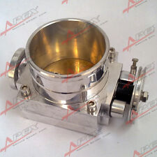 90mm Universal Throttle Body CNC T6 Aluminum Silver