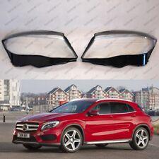 Mercedes GLA X156 OEM Headlight Glass Headlamp Lens Plastic Cover (PAIR)