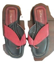 Softspots Shoes Womens 7 M Sandals Flip Flop Slip On Thongs Red