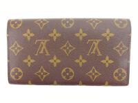 Louis Vuitton Wallet Purse Long Wallet Monogram Brown Woman Authentic Used Y2181