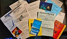 Original Depeche Mode 'Bong' Fan Club Letters With Photos & Strange Too Promo Ad