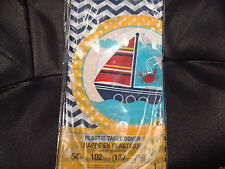 Nautical Tablecloth;  Unisex Nautical Baby Shower; Birthday Party table decor