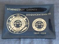 VINTAGE 1809-1959 SCHENECTADY COUNTY SESQUICENTENNIAL PLASTIC COIN PIN TRAY