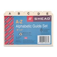 Smead 56076 Manila Heavyweight Card Guides With A-z Tabs - Blank - 5 Tab[s]/set