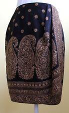Linda Allard Ellen Tracy Pencil Skirt 100% Silk Lined Size 4