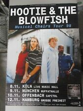 German Rock Roll Concert Poster Hootie & The Blowfish Musical Chairs Tour 1998