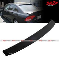 Rear ABS Unpainted Black Roof Spoiler Wing Visor fits 06-11 Honda Civic Sedan