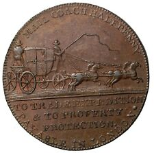 1790' Great Britain Middlesex Palmer's Mail Coach Halfpenny Conder Token D&H-363